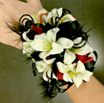 Feathery Fun  Wrist Corsage
