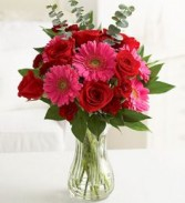 February Bouquet Cheerful Hot Pink Gerberas