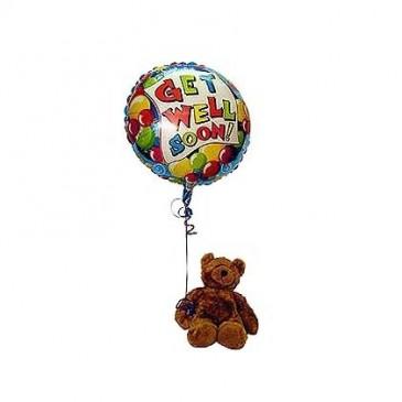FEEL BETTER BEAR HUG Bear with Foil Balloon