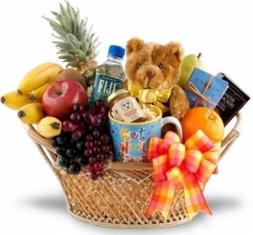 FEEL BETTER SOON FRUIT & GOURMET BASKET