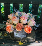 Feelin' Young  Rustic Rose Arrangement