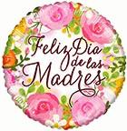 Feliz Dia de las Madres Balloons Bouquet Envía amor a mamá - 3 Mylars & 5 Pink Latex
