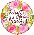 Feliz Dia de las Madres Balloons Bouquet Envía amor a mamá - 3 Mylars & 5 Latex in Reno, NV | Flower Bell