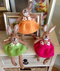 Felt Bunny Rabbits