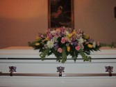 Feminine Tribute Casket Spray