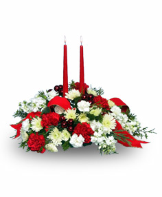 Festive 2-candle Centerpiece Christmas
