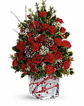 Festive Berries And Holly Tree Christmas flowers.  SOLD OUT