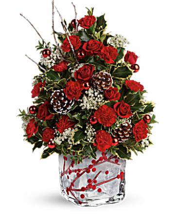 Festive Berries 'n Holly Miniature Christmas Tree