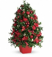 Festive Boxwood Tree Christmas
