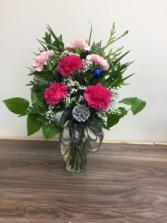 Festive carnations Christmas arrangement