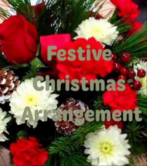 Festive Christmas  Arrangement in Colorado Springs, CO | FLOWERS TO GO