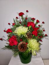 Festive Christmas arrangement  Fresh flower arrangement