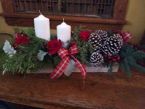 Festive Christmas day arrangement in Pawling, NY | PARRINO'S FLORIST