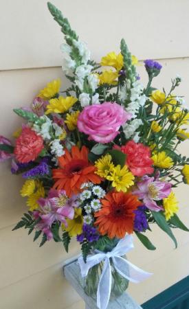 Festive Delight Fresh Mixed Vase Arrangement