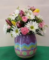 Festive Easter Egg vase
