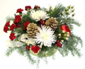 Festive Evergreen Container Arrangement in Invermere, BC | INSPIRE FLORAL BOUTIQUE