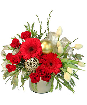Festive Evergreen Flower Bouquet in Milwaukie, OR | Mary Jean's Flowers by Poppies & Paisley