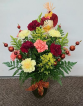 Festive Fall Carnation Vase FHF 51-2 Vase Arrangement (Local Only)