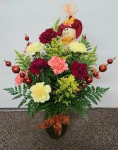 Festive Fall Carnation Vase FHF 51-2 Vase Arrangement (Local Only)