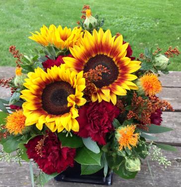 Festive Fall Floral Arrangement