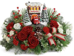 Thomas Kinkade Christmas Centerpiece 2020 Englewood Nj Christmas Flowers Williston Park, NY | VOGUE FLOWERS