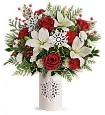 Festive Flurries Bouquet Christmas Arrangement