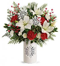 Festive Flurries Bouquet Keepsake Arrangement