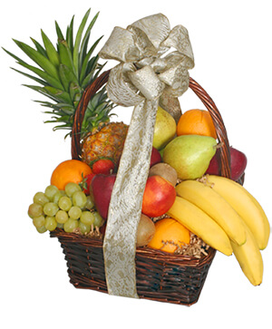 Festive Fruit Basket Gift Basket in Plainview, TX | Kan Del's Floral, Candles & Gifts