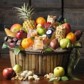Festive Fruit & Wine Baskets