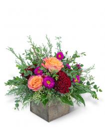 Festive Hearth Flower Arrangement