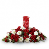Festive Holiday Centerpiece Floral Arrangement