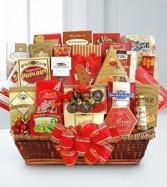 Festive Holiday Delights Gourmet Gift Basket