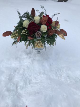 Festive Holiday vase