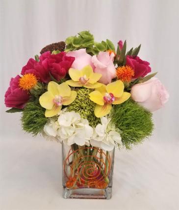 Festive Joy Vase Arrangement