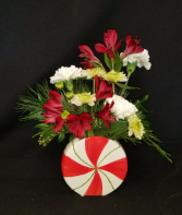Festive Peppermint  Arrangement