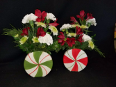 Festive Peppermint Duo Arrangement