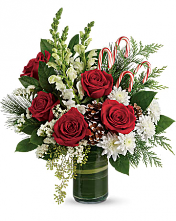 Festive Pines Bouquet Floral Arrangement