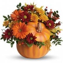 Festive Pumpkin Fall Bouquet