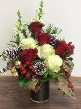 Festive Roses 2019 Vase floral arrangement