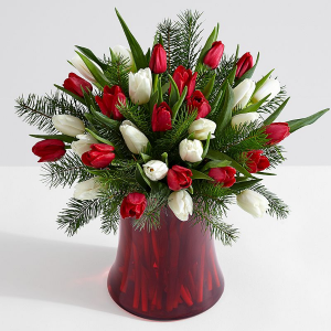 festive tulips  in Oakville, ON | ANN'S FLOWER BOUTIQUE-Wedding & Event Florist
