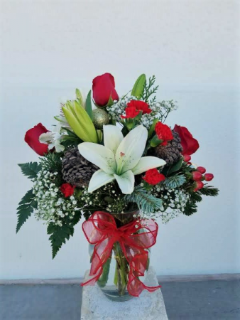 Festive Winter Greetings Arrangement