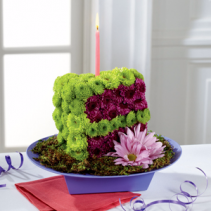 Festive Wishes Floral Cake Slice Birthday Flowers