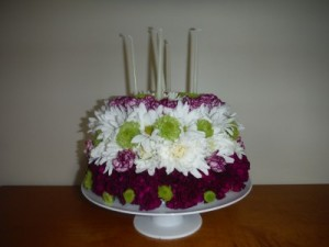 FG floral cake Birthday flowers in Barnesville, OH | THE FLOWER GARDENS
