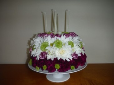 FG floral cake Birthday flowers
