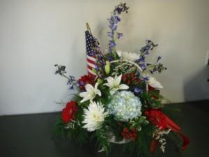 FG Grand Old Flag Sympathy arrangement in Barnesville, OH | THE FLOWER GARDENS