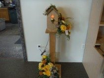 FG lighted bird house on a stand