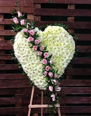 FH 1 SOLID HEART W/PINK ROSES