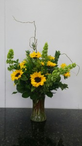 Field of Sunflowers tall vase