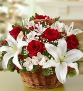 Fields Of Europe Basket for Christmas Christmas Flowers