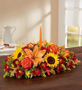 Colors of Fall Centerpiece in New Wilmington, PA | FLOWERS ON VINE